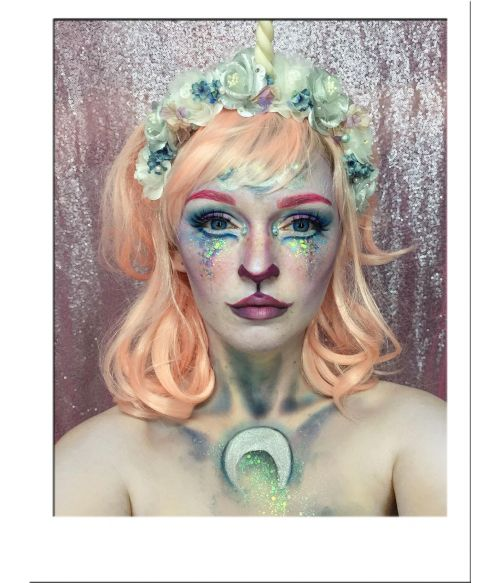 Pastel Peach Wavy Wig UK
