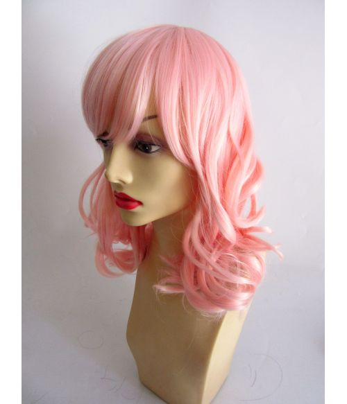 Peach Pink Mid Length Wig