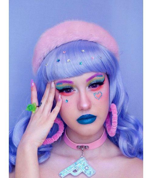 E Girl Wig Blue