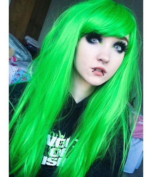 Emo Wig Green