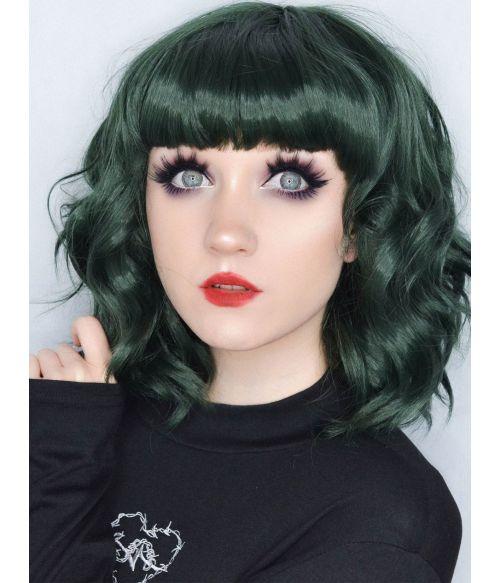 Emo Wig Short Green