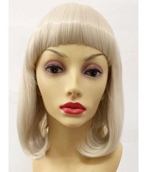 Full Blonde Bob Wig With Short Bangs