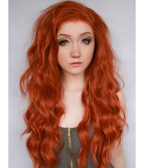 Ginger Lace Front Wig Long Wavy
