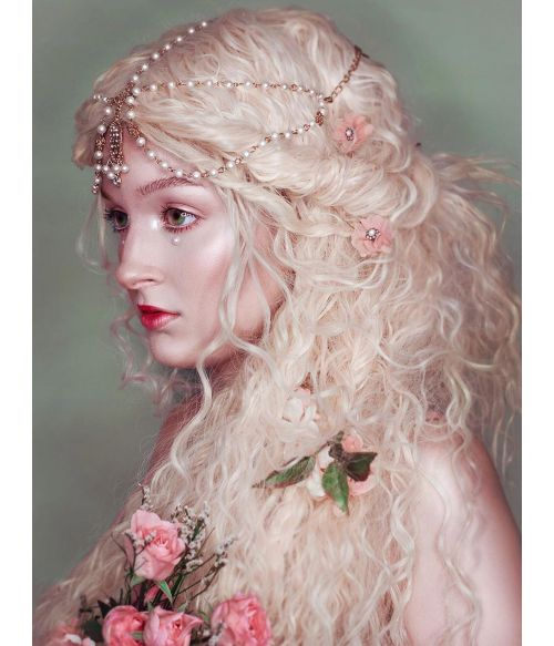 Greek Goddess Wig Blonde Long Wavy