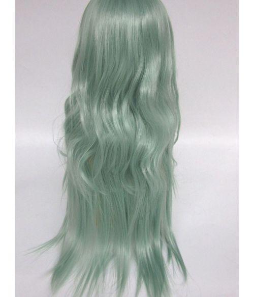 Green Wig Long Wavy Pastel