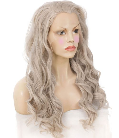 Grey Wig Lace Front Curly