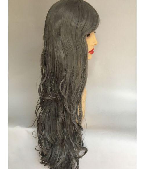 Grey Wig Long Wavy