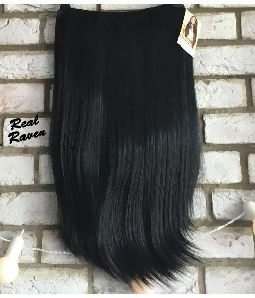 Half Wig Black Straight Long