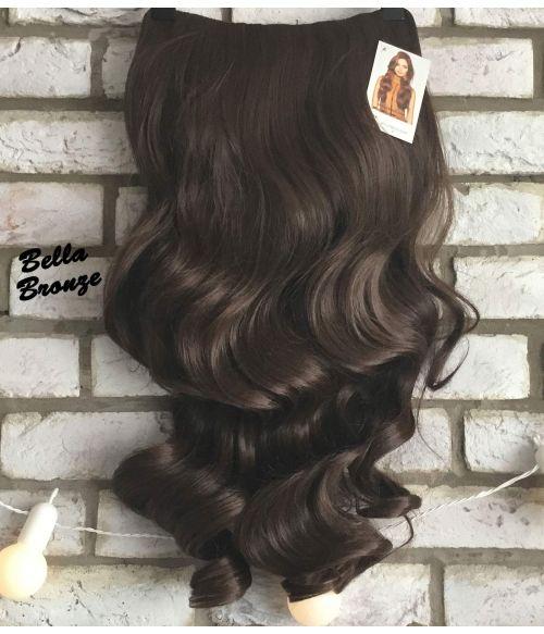Half Wig Brown Curly