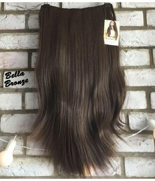 Half Wig Brown Straight Long