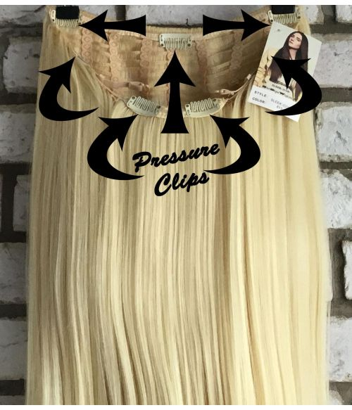 Half Wig With Clip In Pressure Clips