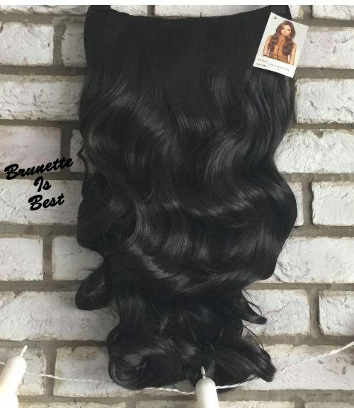 Half Wig Dark Brown Wavy