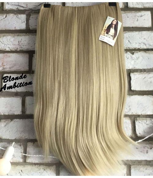Half Wig Natural Blonde Straight