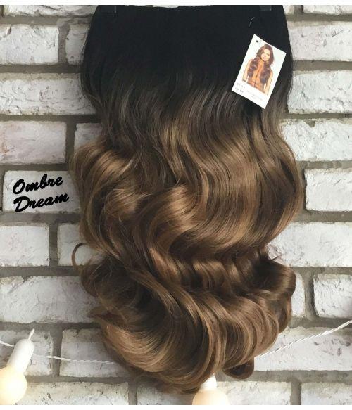 Half Wig Ombre Curly Long