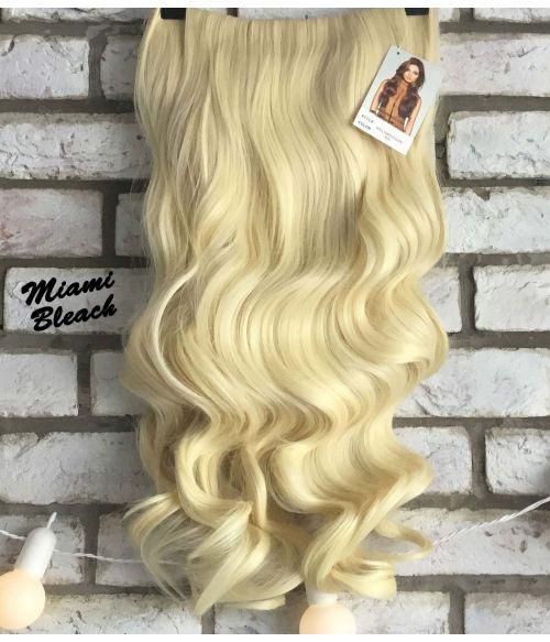 Half Wig Curly Platinum Blonde