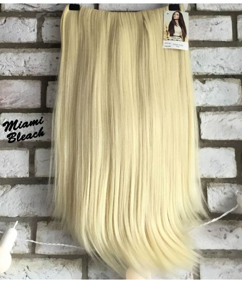 Half Wig Platinum Blonde Straight Long