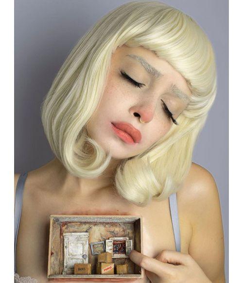 Heavy Blonde Bob Wig Platinum Blonde