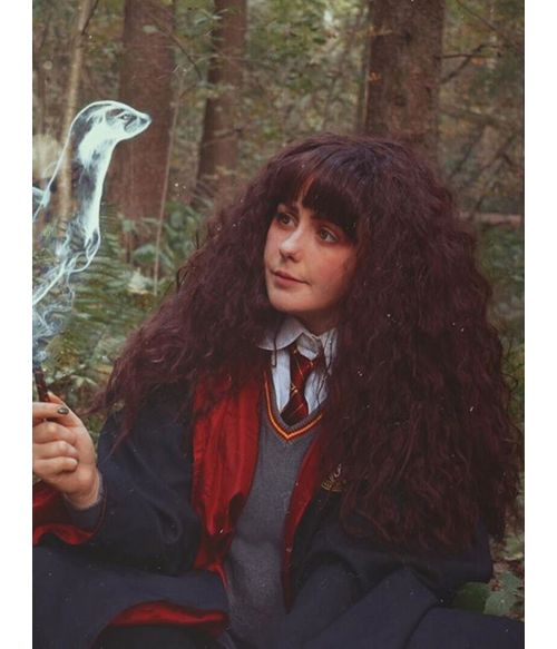 Hermione Granger Wig Long Brown Curly