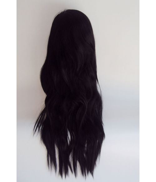 Kylie Jenner Wig Long Black Wavy