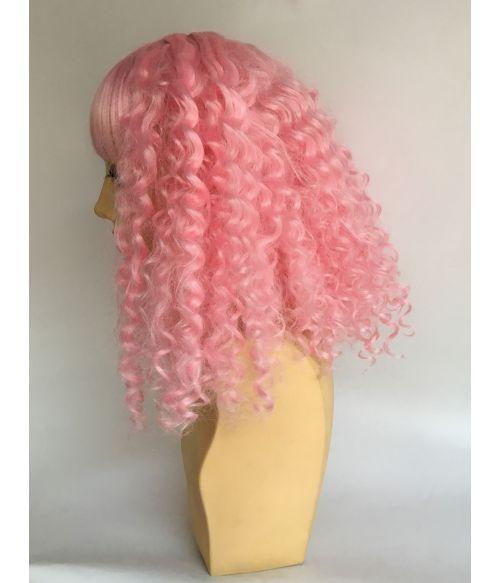 Kinky Afro Wig Pink