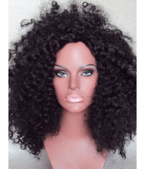 Kinky Curly Wig Afro Black