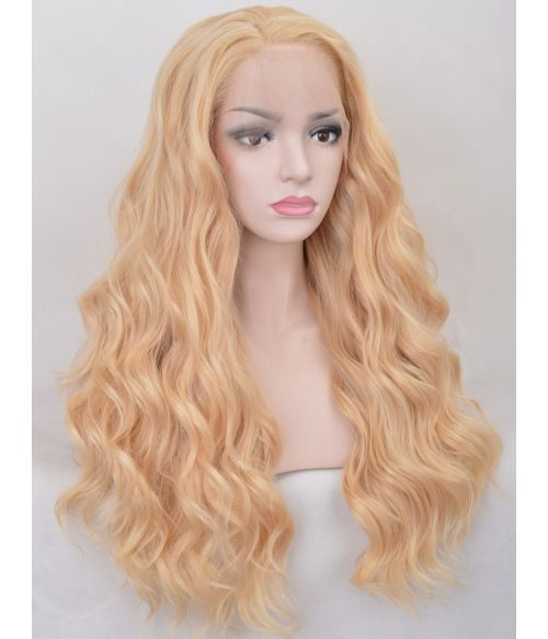 Lace Front Blonde Wavy Wig