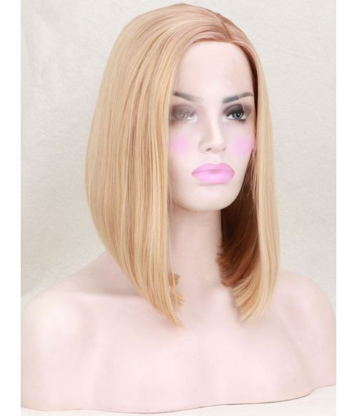 Blonde Wig Bob Straight Lace Front
