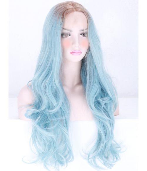 Pastel Blue Lace Front Wig