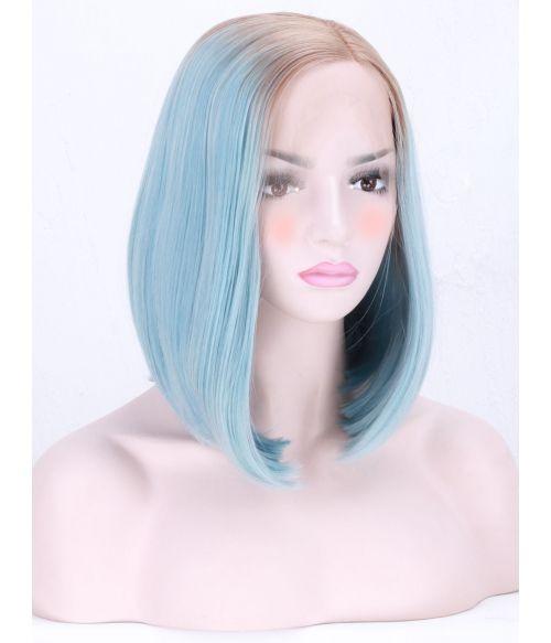 Pastel Blue Wig Bob