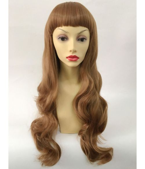 Light Brown Wig With Bangs