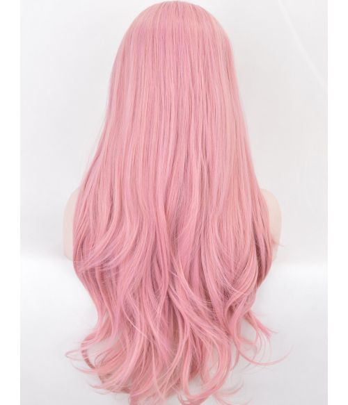 Light Pink Lace Front Wig Long