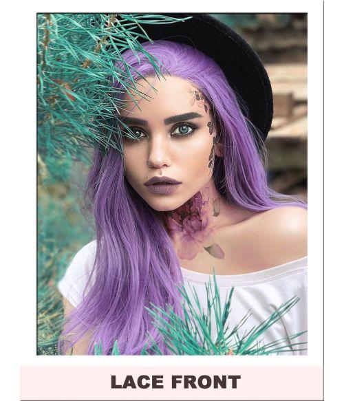 Light Purple Lace Front Wig