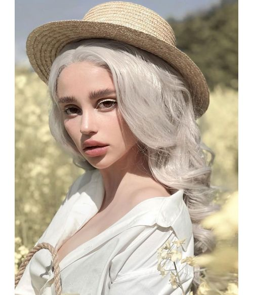 Light Silver Grey Wig Lace Front