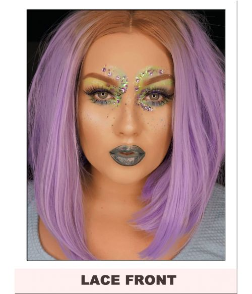 Lilac Lace Front Wig Bob