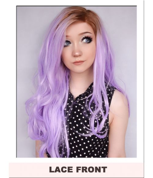 Lilac Lace Front Wig