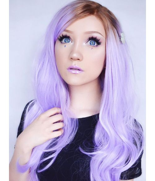 Lilac Wig Long Lace Front