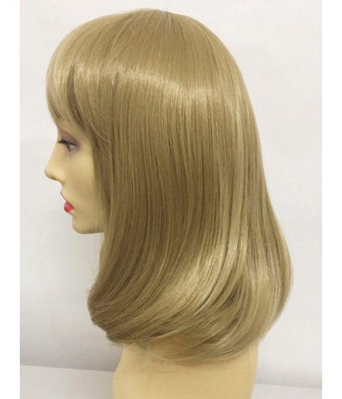 Lob Wig With Bangs Blonde
