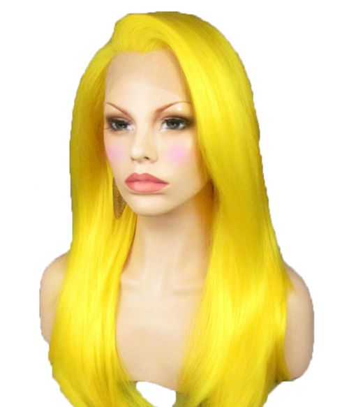 Bright Yellow Lace Front Wig
