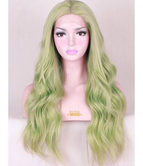Mint Green Lace Front Wig