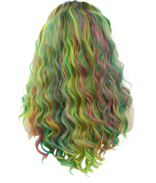 Neon Rainbow Lace Front Wig