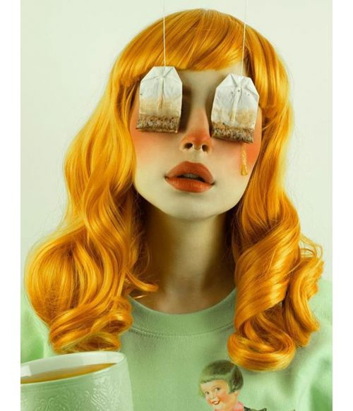 Orange Wig With Bangs Ginger Curly