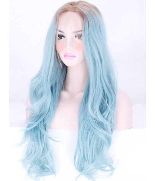 Light Blue Lace Front Wig
