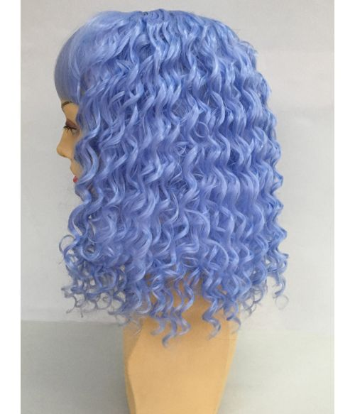 Pastel Blue Wig Curly
