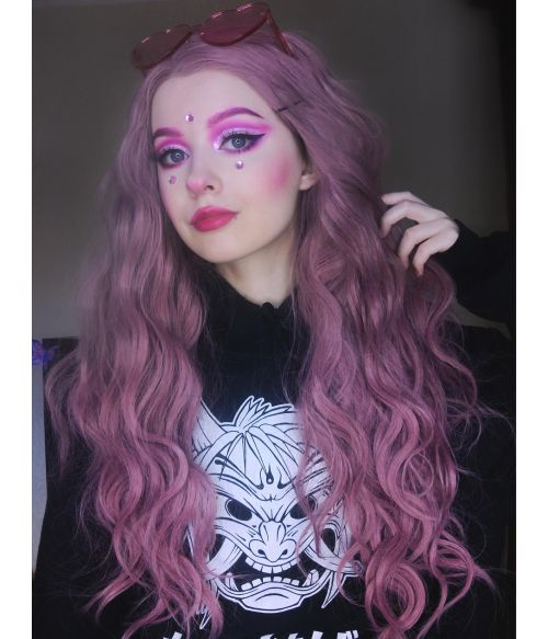 Pastel Grunge Wig Pink