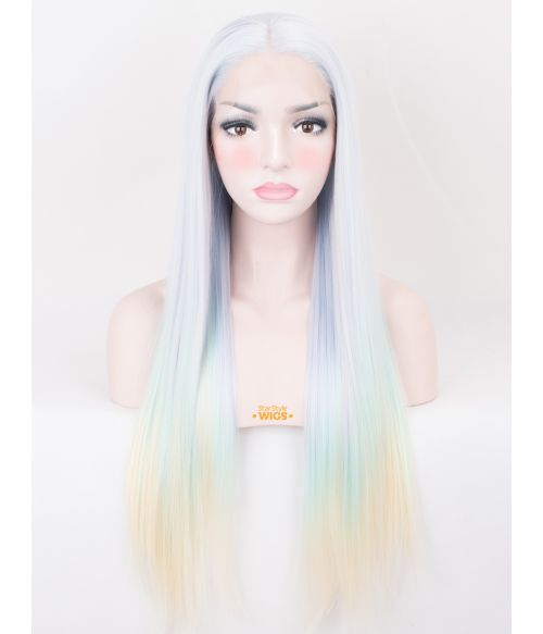 Pastel Ombre Lace Front Wig