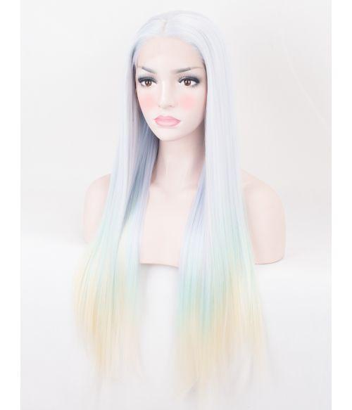 Pastel Ombre Lace Front Wig Long