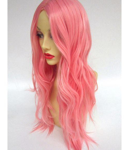 Pastel Pink Wig Centre Part