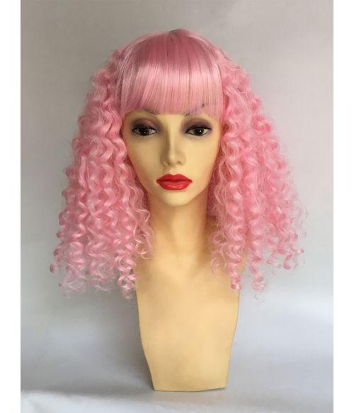 Pastel Pink Wig Curly
