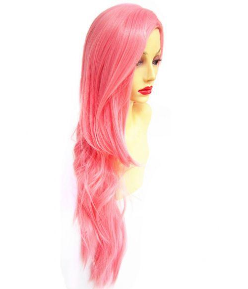 Pastel Pink Wig Side Part