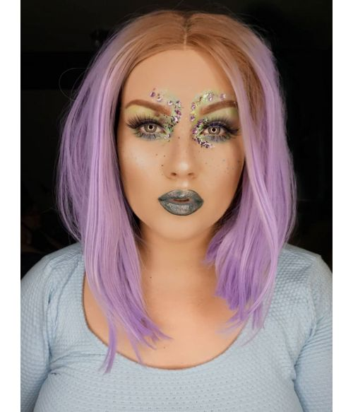 Pastel Purple Lace Front Wig
